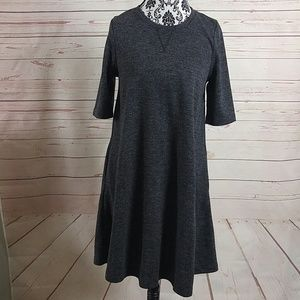 Adrienne Vittadini Heather Gray Swing Dress